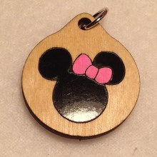 Minnie Mouse Wood Necklace