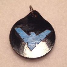 Night Wing Wood Necklace