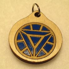 Arc Reactor Ironman Wood Necklace