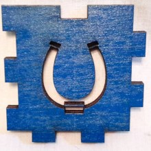 Horseshoe blue LED Gift Box