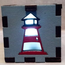 Lighthouse LED Gift Box white
