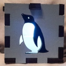 blue penguin lit white