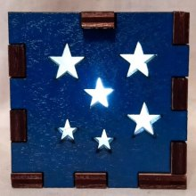 blue stars lit white