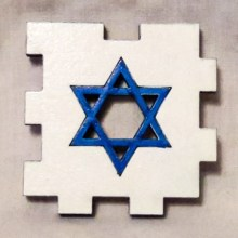 Star of David White Face