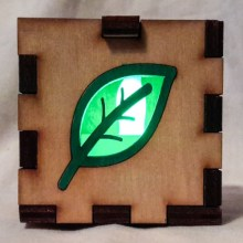 Leaf LED Gift Box green