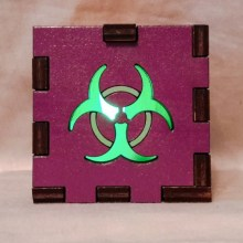 Biohazard purple LED Gift Box green
