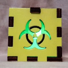 Biohazard Yellow lit green