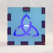 Triquetra Light Blue lit blue