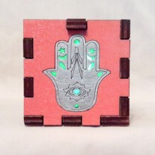Hamsa LED Gift Box green