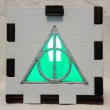 Deathly Hallows lit green