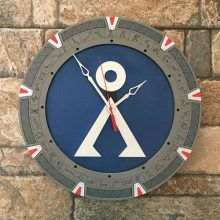 "Premade 14"" Wood Stargate Wall Clock"