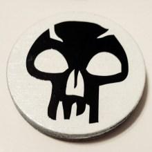 MTG Black Mana Skull Cuff Disk