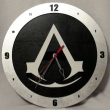 Assassins Creed black background, 14 inch Build-A-Clock