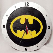 Batman black background, 14 inch Build-A-Clock