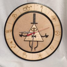 "Premade 14"" Wood Bill Cipher Gravity Falls Wall Clock"