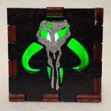 Mandalorian LED Gift Box green
