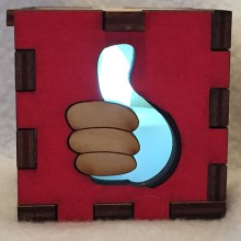 Fallout Thumbs Up Tea Light Front