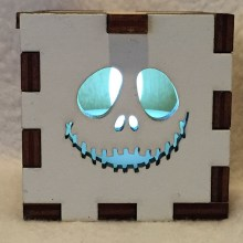 Jack Skeleton White Tealight