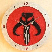 Mandalorian Black on Red Build-A-Clock
