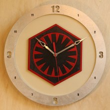 Star Wars First Order Red on Beige Build-A-Clock