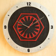 Star Wars First Order Red on Black Build-A-Clock