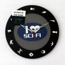 "Premade 14"" glow in the dark Sci-Fi Enthusiast Wall Clock"