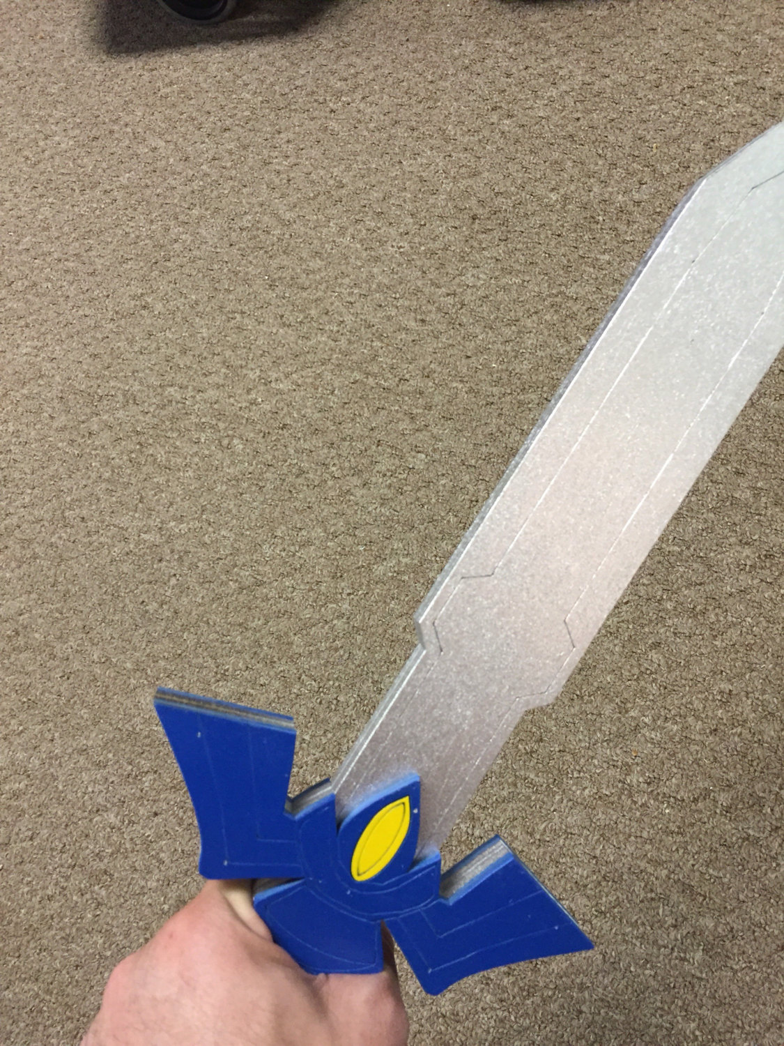 93 Origami Master Sword After Cutting Along The Shape With A Narsil Origamiyard 17 Link