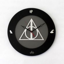 "Premade 14"" Wood Harry Potter Wall Clock"