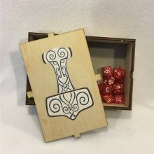 Dice Box Thors Hammer Open