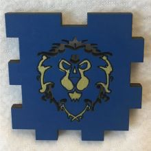 Alliance World of Warcraft Symbol Wood Tea Light Front