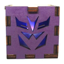 Transformers Decepticon Wood Lit Blue LED Tea Light