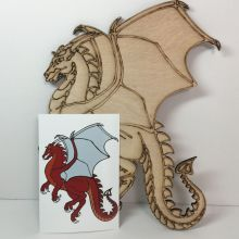 Dragon coloring or painting