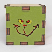 Grinch LED Box Red