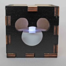 Mickey Mouse Wood Lit White LED Tea Light