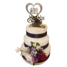 Jack and Sally Wedding Cake Topper White
