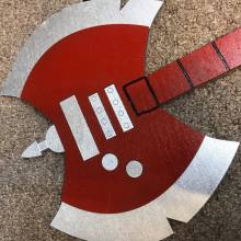 "Kids Size 23"" Fan Inspired Marceline's Axe Guitar from Adventure Time Cosplay Replica Costume Prop"