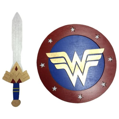 "Kids Size Set: 17"" Wonder Woman Sword and 14"" Shield Cosplay Replica Costume Prop"
