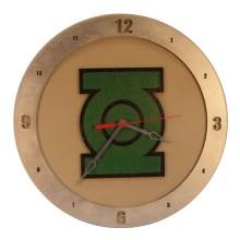 Green Lantern Clock on Beige background