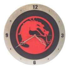 Mortal Kombat Clock on Black Background