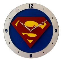Superman Clock on Blue background