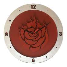 RWBY Clock on Red Background