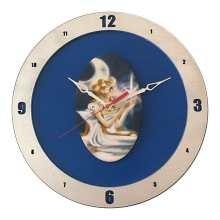 Sailor Moon Clock on Blue Background