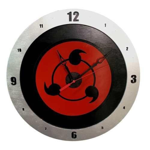Sharingan Clock on Black Background