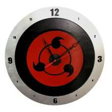 Sharingan Build A Clock on Black Background
