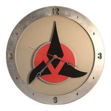 Star Trek Klingon Clock on Beige Background