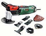 Bosch Home and Garden Multifunktionswerkzeug PMF 250 CES Set, Säge- Schleifblatt-Set, Tiefenanschlag, Koffer (250 W, 15.000-20.000 min-1 Leerlaufdrehzahl)