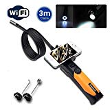 Depstech® HD 720P 6-LED-Handheld drahtlose Wifi Wasserdichte Inspektion Endoskop Borescope mit 2.0 Megapixel Inspection Kamera Video Soft Tube 3m für iPhone / Android Phone DENKJ0003