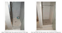Shower Before and After - Allure Bathroom Remodeling