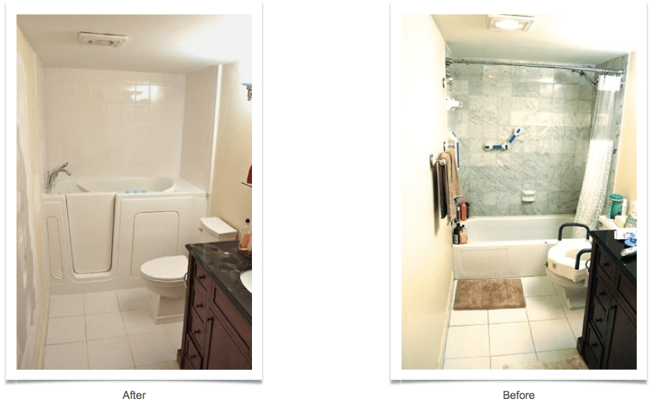 WalkInTubs Before  After  Allure Bathroom Remodeling