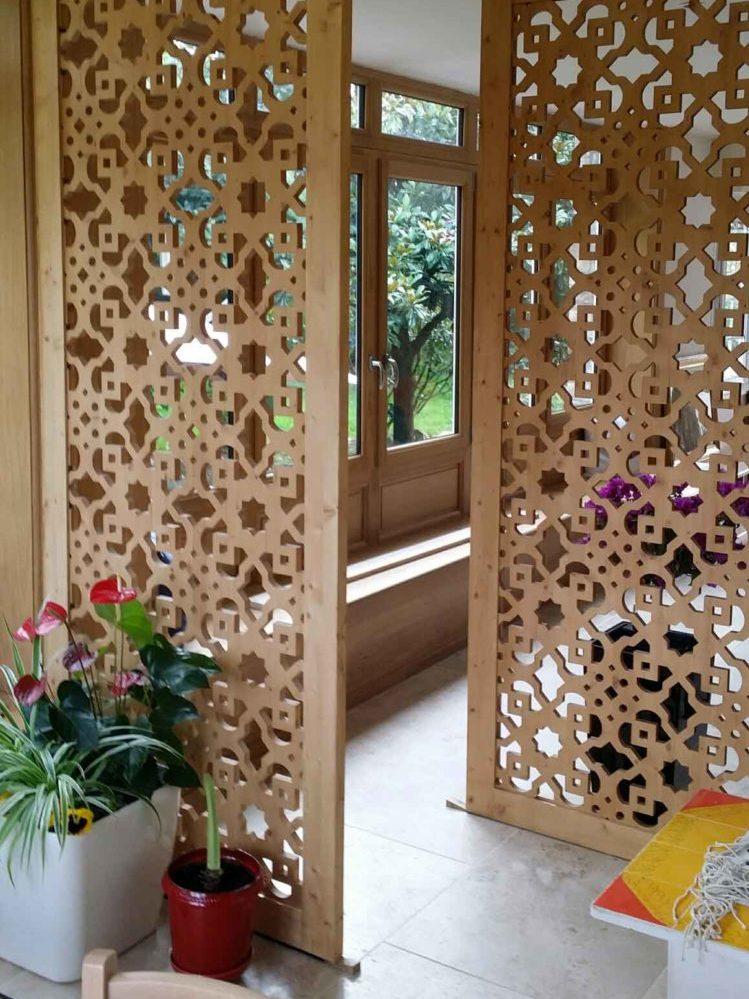 claustra interieur en bois sur mesure